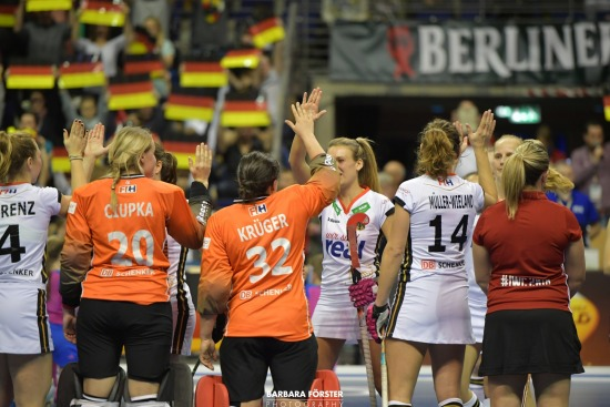 Indoor Hockey  - World Cup 2018 in Berlin - Women - Semi  Finals - Germany vs Belarus